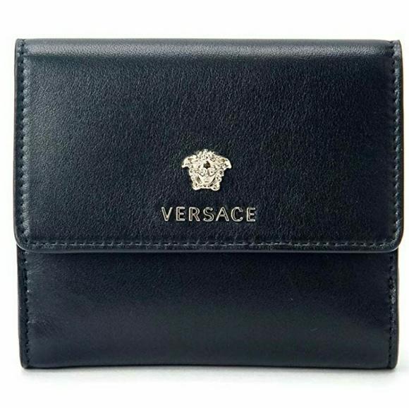Versace Handbags - Versace Medusa Leather Signature French Wallet